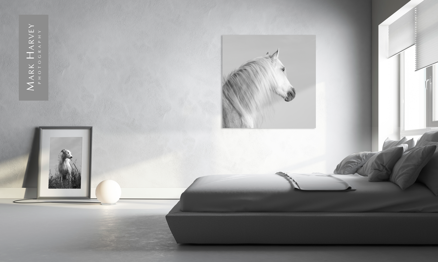 Equine Interior Design Grey Horse